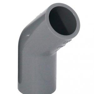 KCTS45L20 2 300x300 - 日本3/4″KC牌UPVC灰色45°厚曲尺