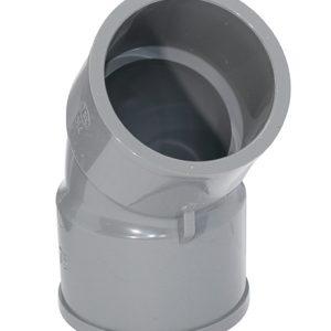 TSKTS45L75 2 300x300 - 日本3″TSK牌UPVC灰色45°厚曲尺