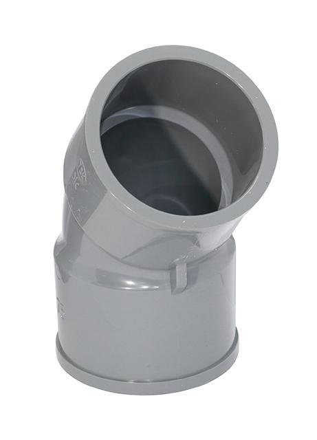 TSKTS45L75 2 - 日本3″TSK牌UPVC灰色45°厚曲尺